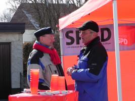 Uwe Blaas und Dietmar Sons, zwei SPD Urgesteine