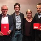 v.l.: Dietmar Sons, Bernd Bachmann, Regina Rusch, Sascha Vespermann